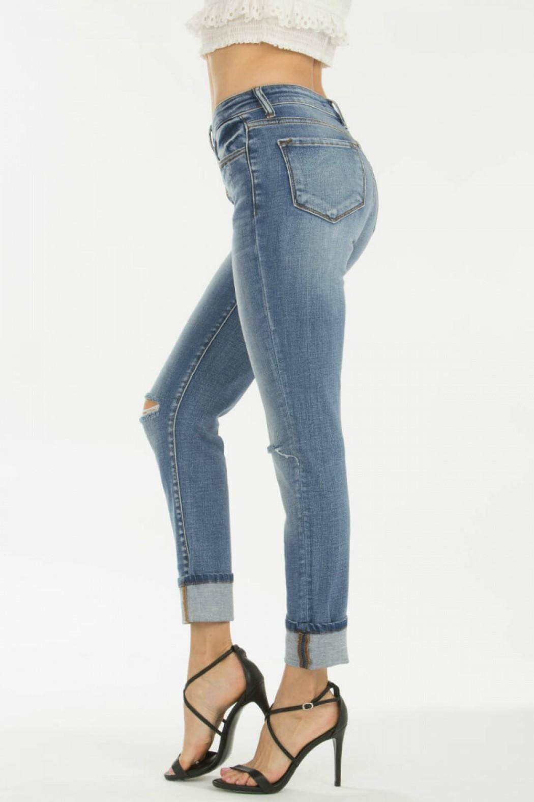 KanCan 5-Button Straight Jeans - Back Cropped Image