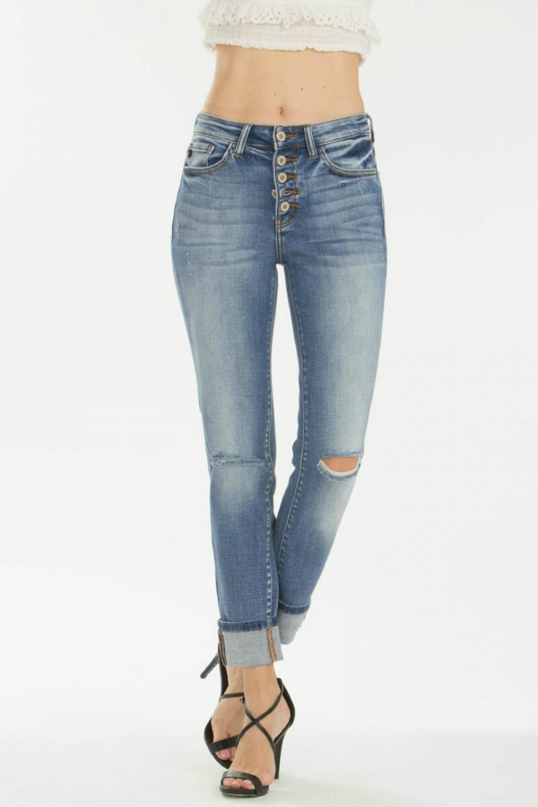 KanCan 5-Button Straight Jeans - Main Image