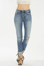 KanCan 5-Button Straight Jeans - Front cropped