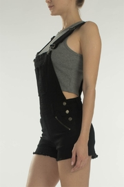 KanCan Black Overall Shorts - Front full body