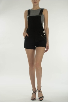 KanCan Black Overall Shorts - Product List Image