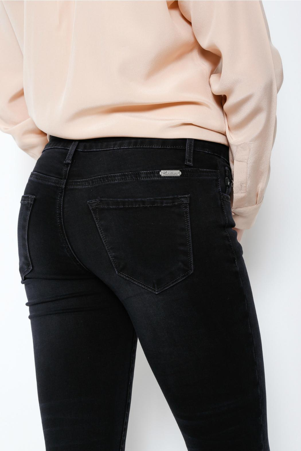 KanCan Black Wash Jeans - Back Cropped Image