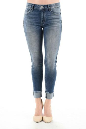 Shoptiques Product: Cuffed Cropped Jeans - main