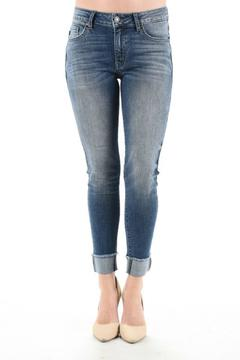 KanCan Cuffed Cropped Jeans - Product List Image