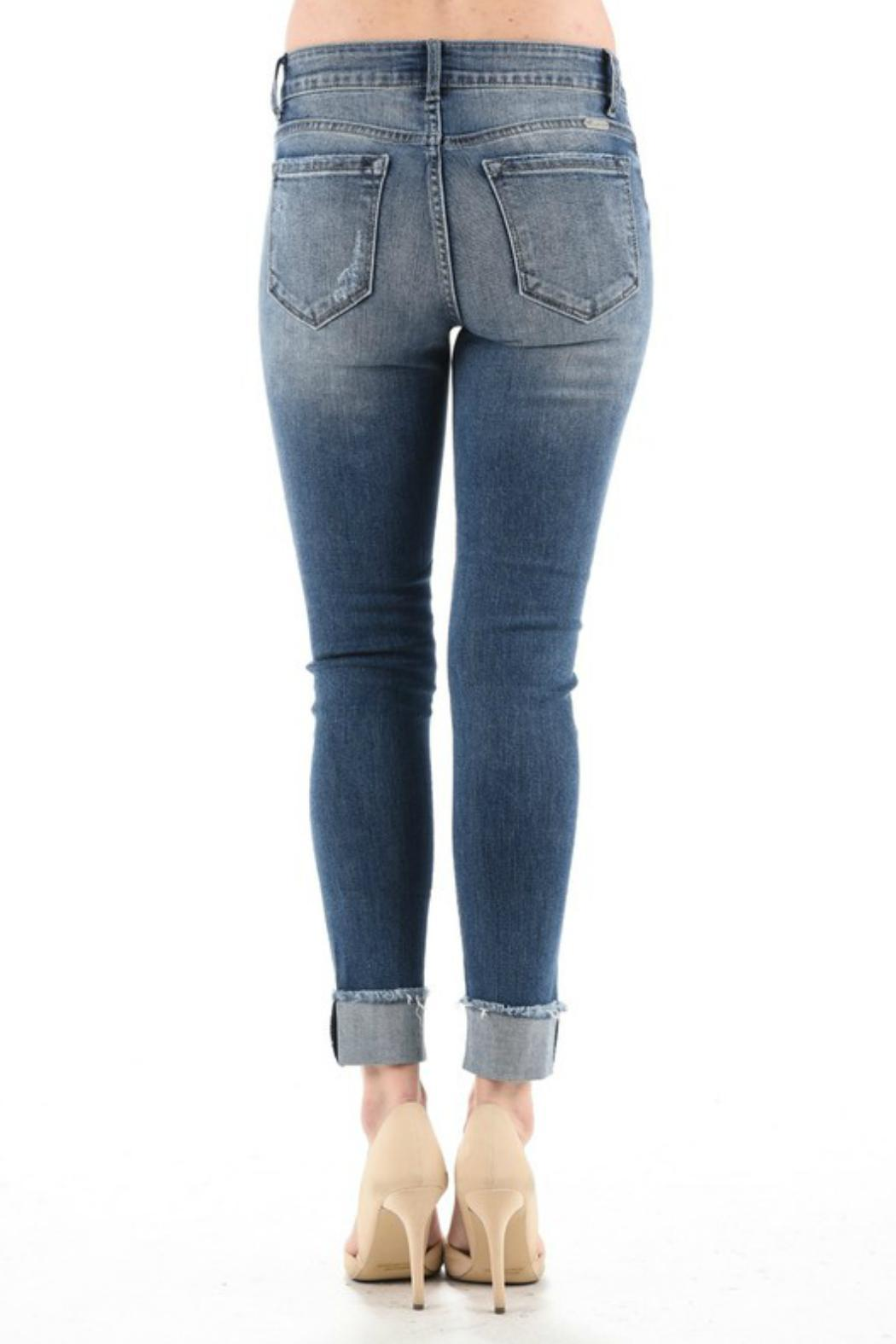 KanCan Cuffed Cropped Jeans - Side Cropped Image