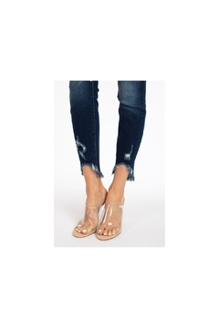 KanCan dark denim cropped high rise jeans - Alternate List Image