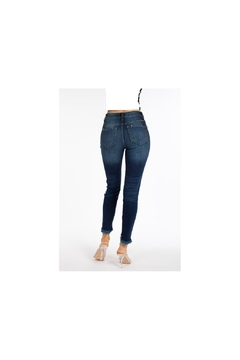 KanCan dark denim cropped high rise jeans - Product List Image
