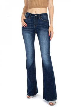 Shoptiques Product: Dark-Wash Flare Jeans