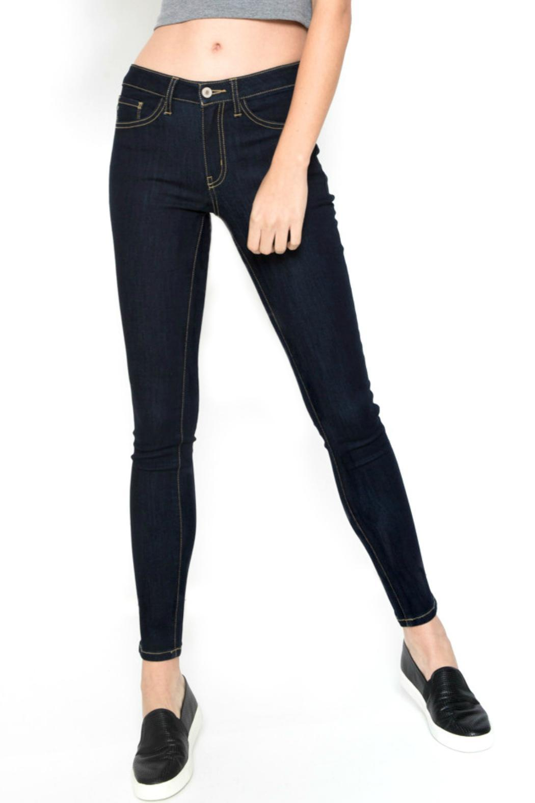 KanCan Dark Wash Jeans - Side Cropped Image