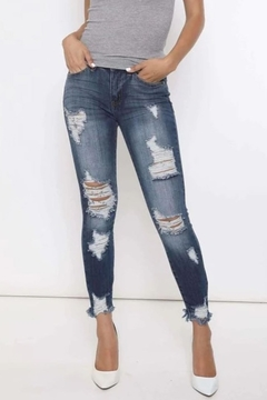 KanCan Kancan Destroyed Skinny Jeans - Product List Image