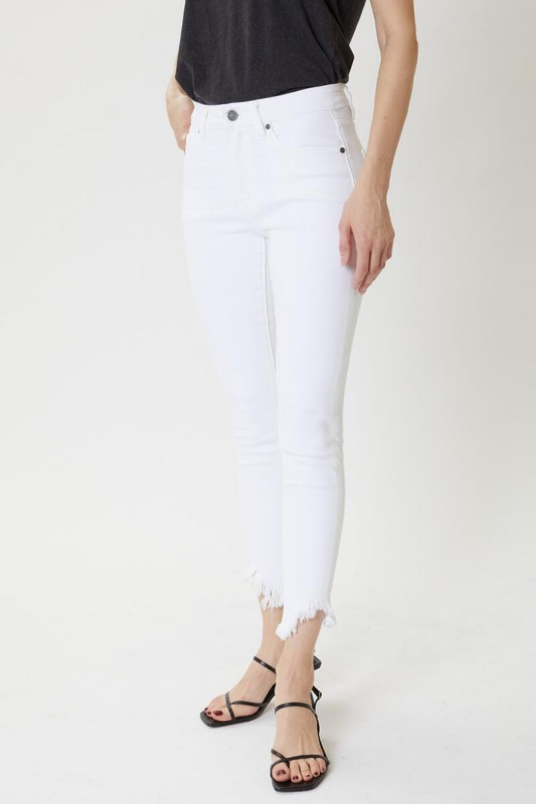 KanCan Distressed Ankle Skinny - Front Full Image