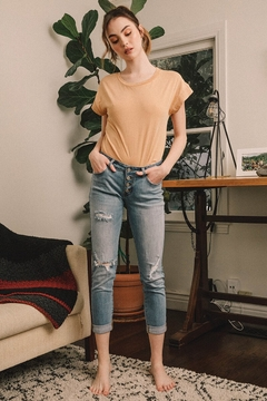 Shoptiques Product: Kancan Distressed Boyfriend Jean