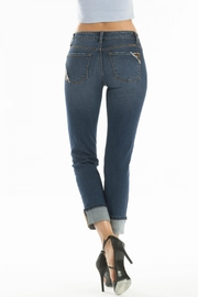 KanCan Distressed Leopard-Lining Jeans - Front full body