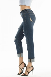 KanCan Distressed Leopard-Lining Jeans - Side cropped