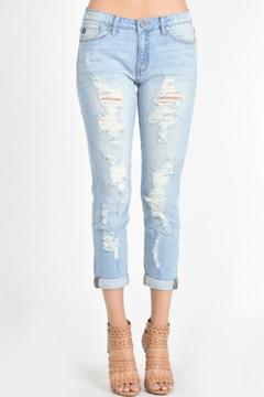 KanCan Distressed Lightwash Boyfriend - Product List Image