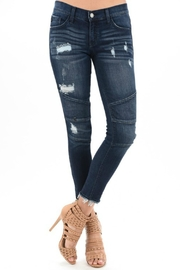 KanCan Distressed Moto Denim - Product Mini Image