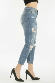 KanCan Distressed Straight Jean - Back cropped