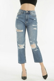 KanCan Distressed Straight Jean - Product Mini Image