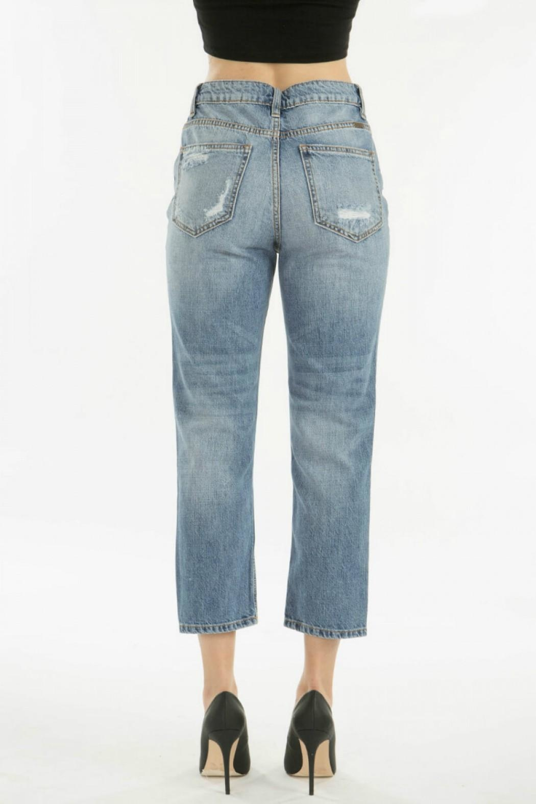 KanCan Distressed Straight Jean - Front Full Image