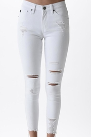 KanCan Distressed White Wash Skinny Jeans - Product Mini Image