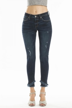 Shoptiques Product: Frayed Ankle-Skinny Jeans