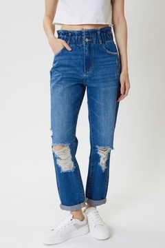 KanCan High Rise Cuffed Paper Bag jeans (KC5214M) - Product List Image