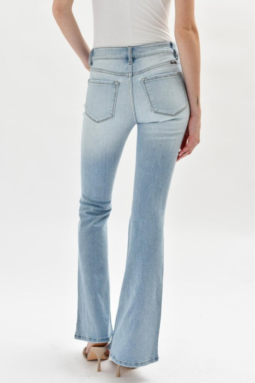 KanCan High-Rise Flare Jeans - Back Cropped Image