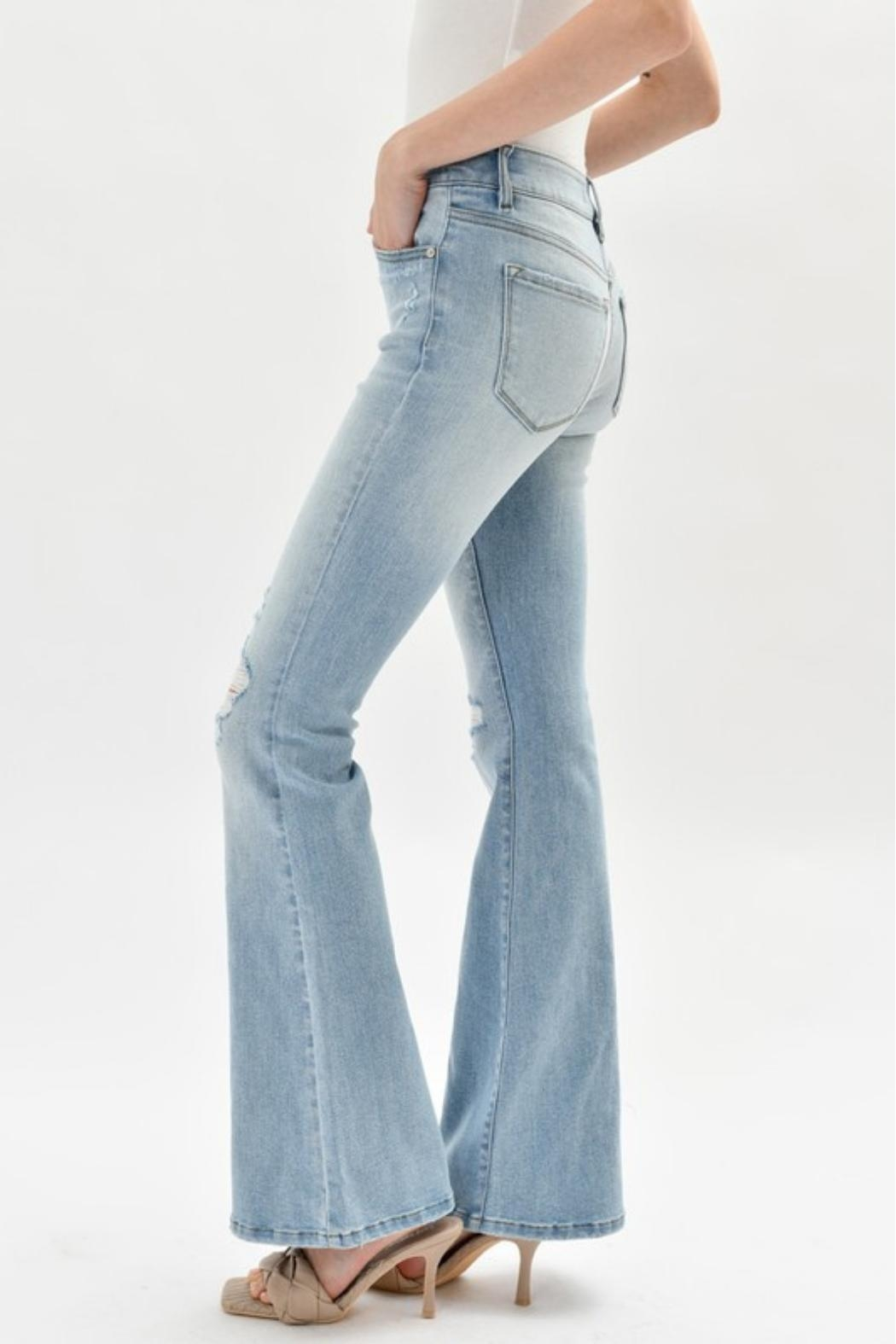 KanCan High-Rise Flare Jeans - Side Cropped Image