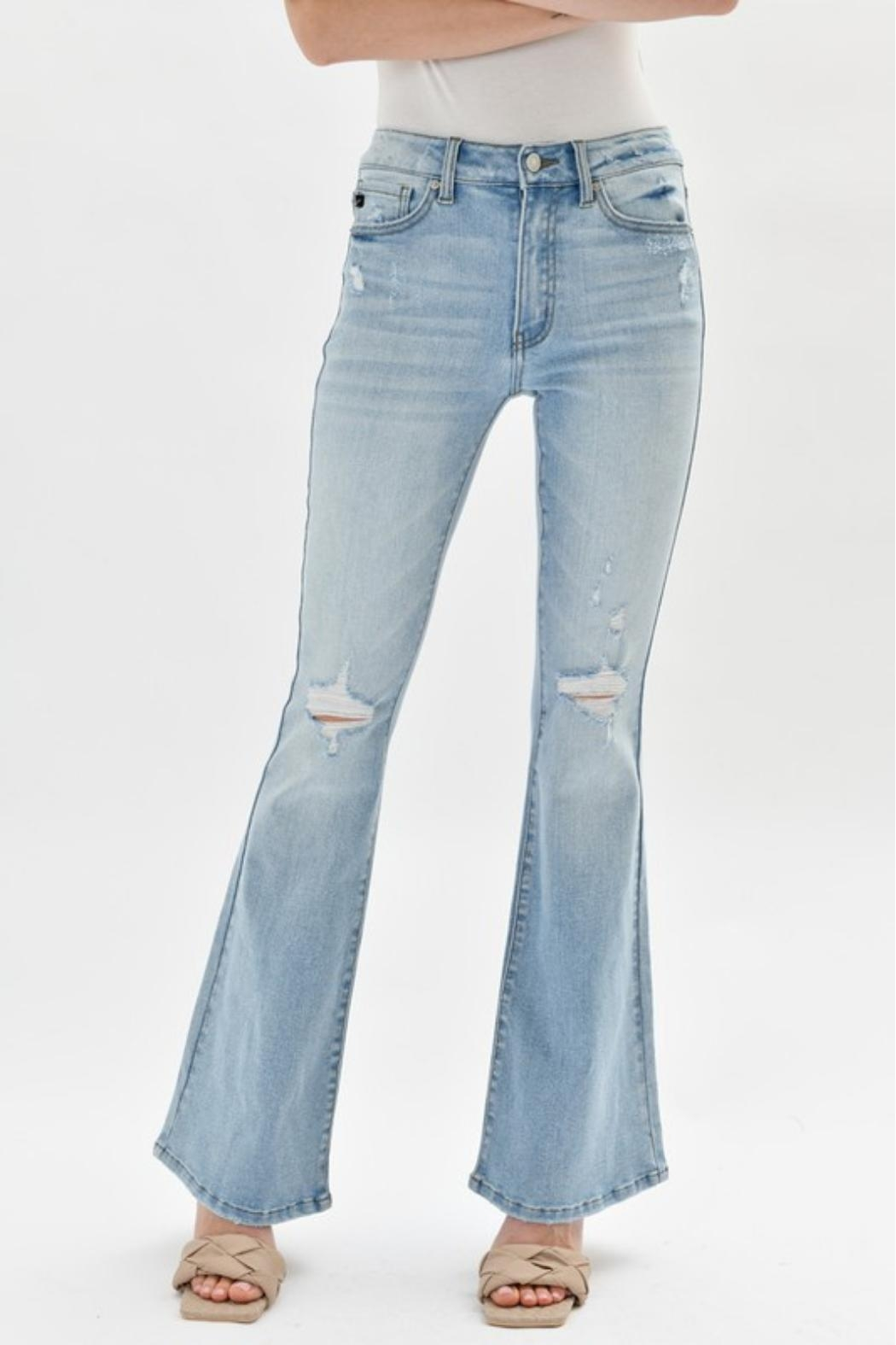 KanCan High-Rise Flare Jeans - Front Full Image