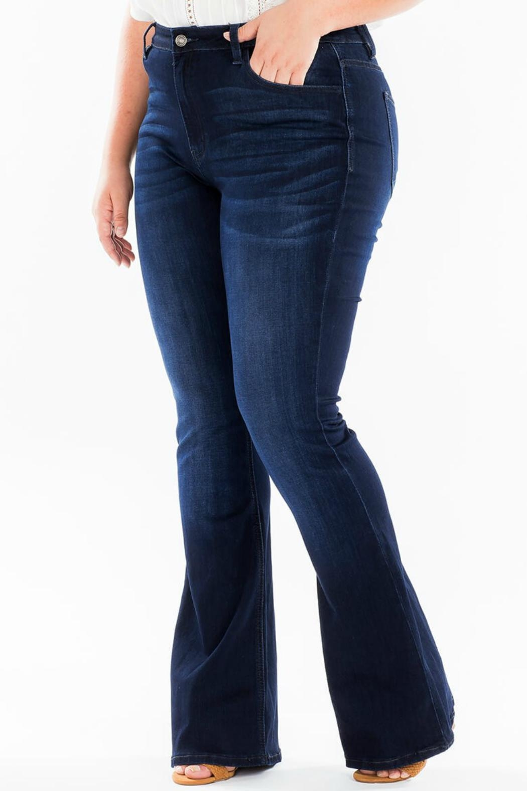 KanCan High-Rise Flare Stretch-Jean - Back Cropped Image