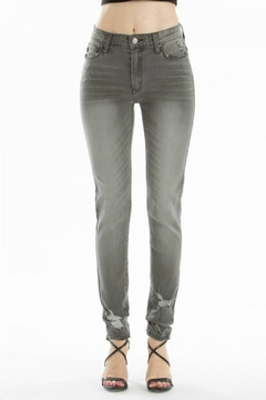 KanCan High-Rise Super-Skinny Gray-Wash Denim - Product List Image