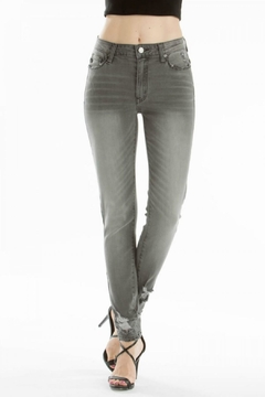 KanCan High-Rise Super-Skinny Gray-Wash Denim - Alternate List Image