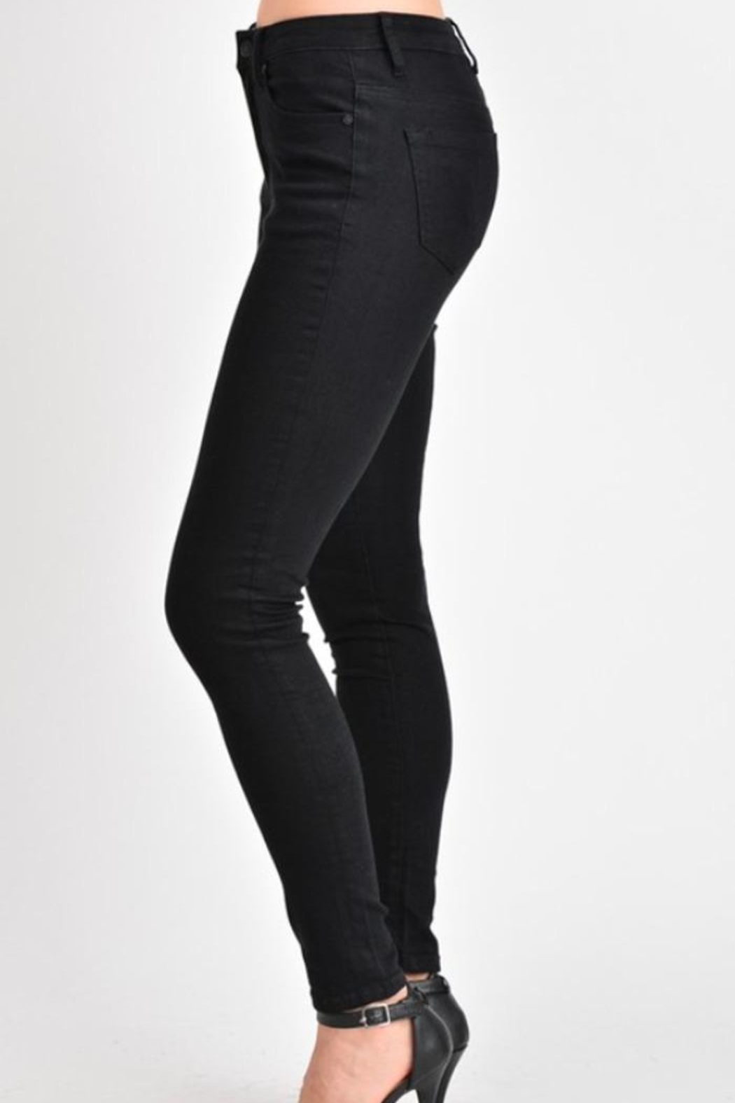 KanCan High-Waisted Black Jeans - Side Cropped Image