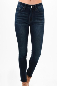 Shoptiques Product: High-Waisted Dark Jeans