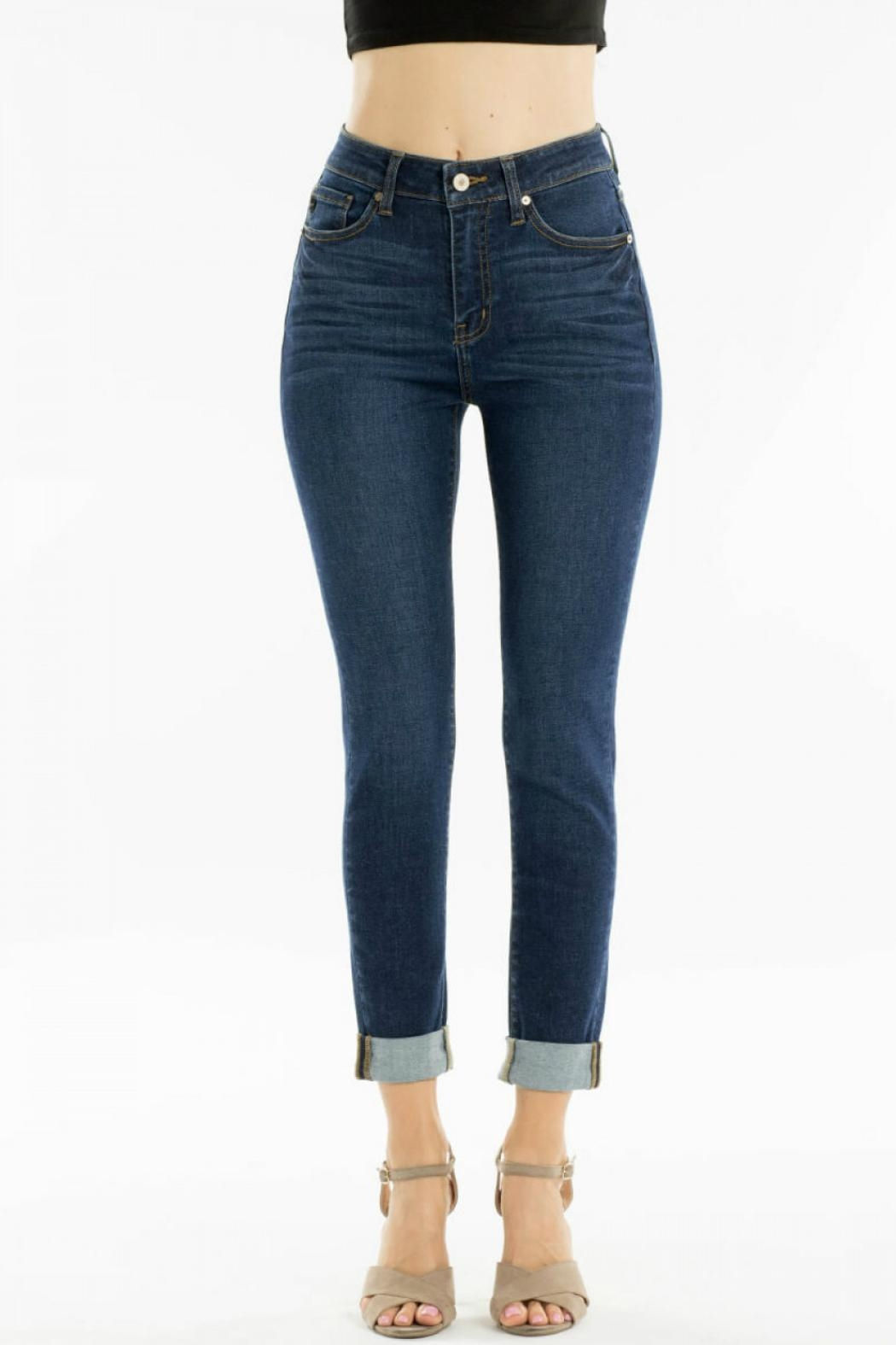KanCan High-Waisted Kancan Blue-Jean - Front Cropped Image