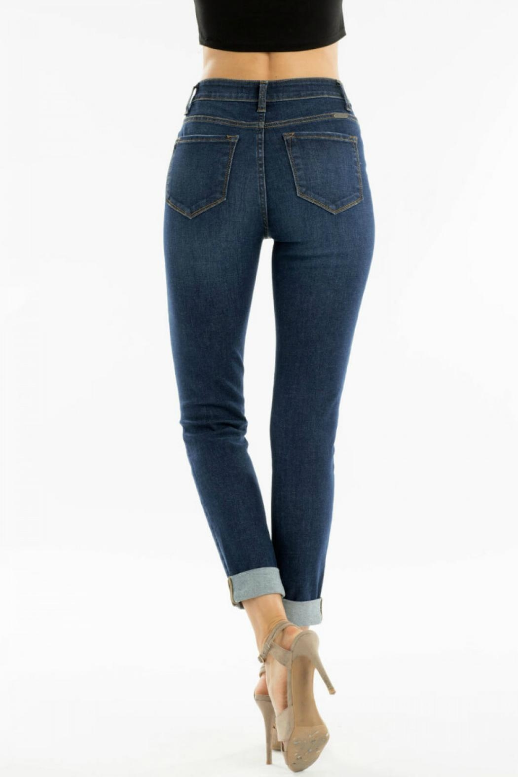 KanCan High-Waisted Kancan Blue-Jean - Front Full Image