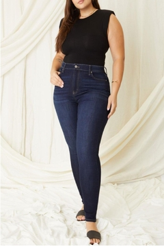 Shoptiques Product: Lauryn High-Rise Skinny Kancan Jeans