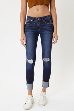 KanCan Low Rise Cuffed Ankle Skinny (KC8245RD) - Product List Image
