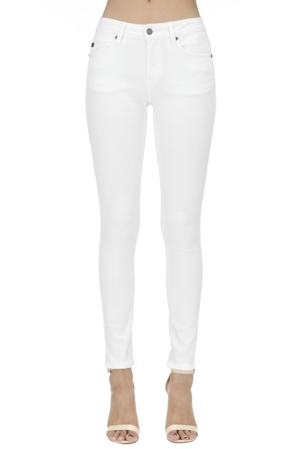 KanCan Mid Rise Ankle Skinny jean (KC7085WT) - Front Cropped Image