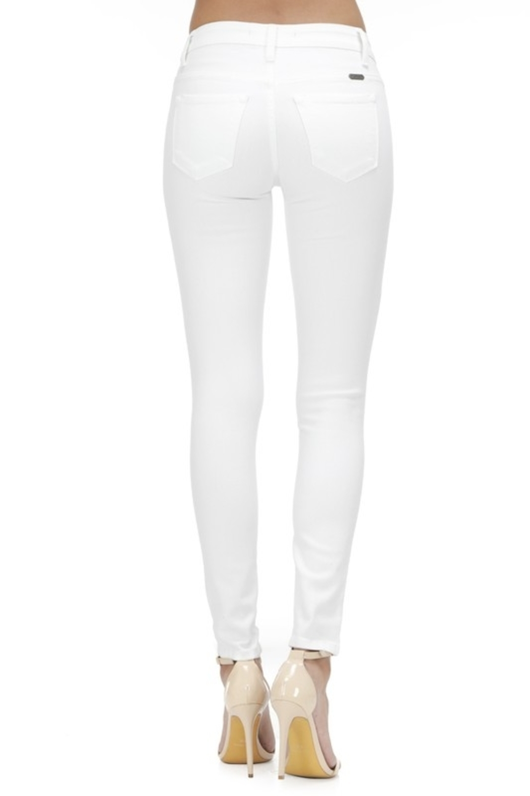KanCan Mid Rise Ankle Skinny jean (KC7085WT) - Front Full Image