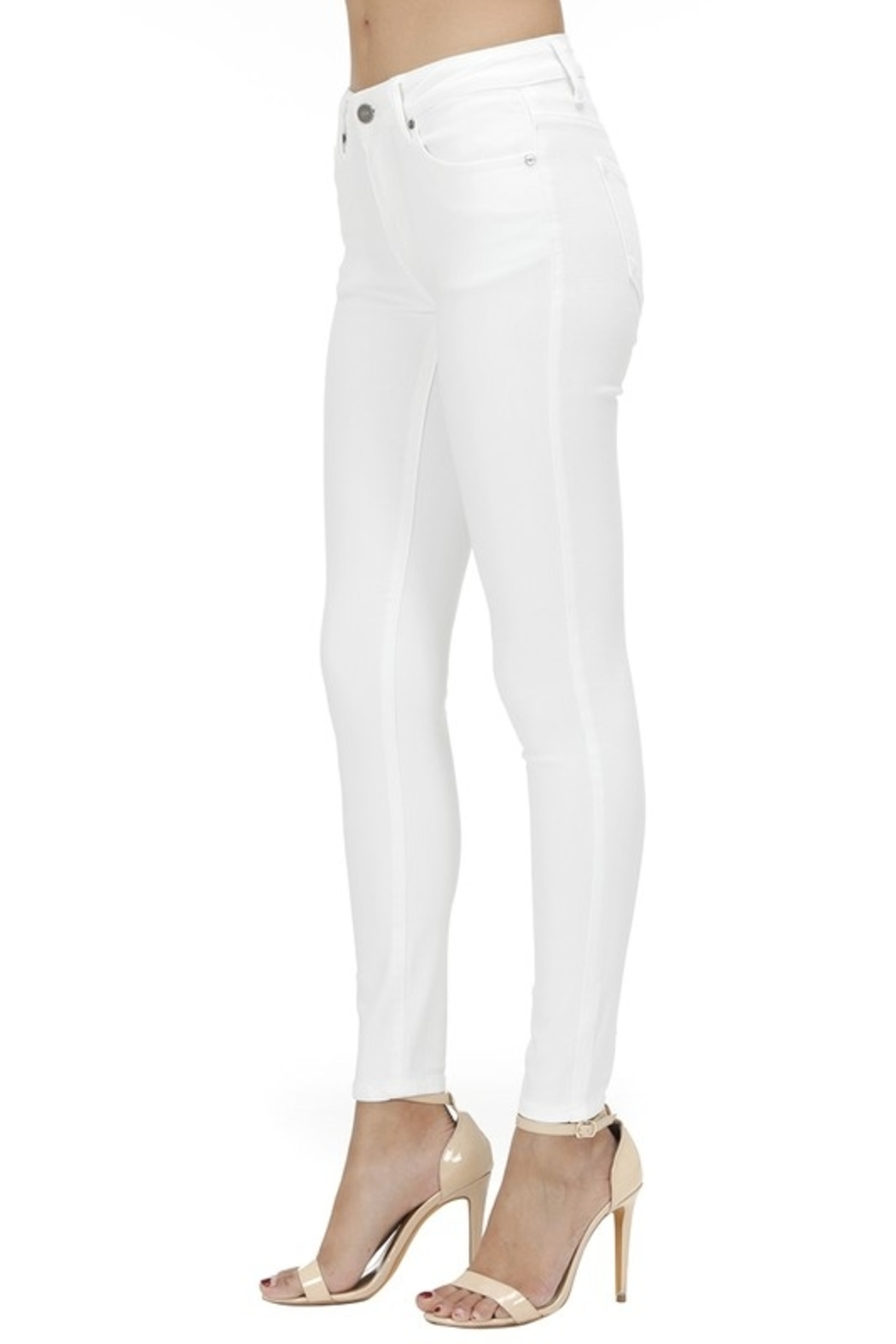 KanCan Mid Rise Ankle Skinny jean (KC7085WT) - Side Cropped Image