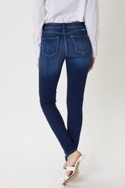 KanCan Mid Rise Dark Wash Super Skinny jeans (KC7085DH) - Front full body