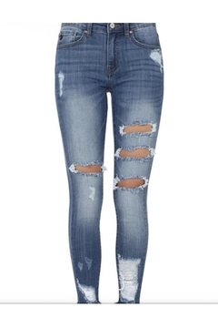 KanCan Mid-Rise Distressed Jeans - Alternate List Image