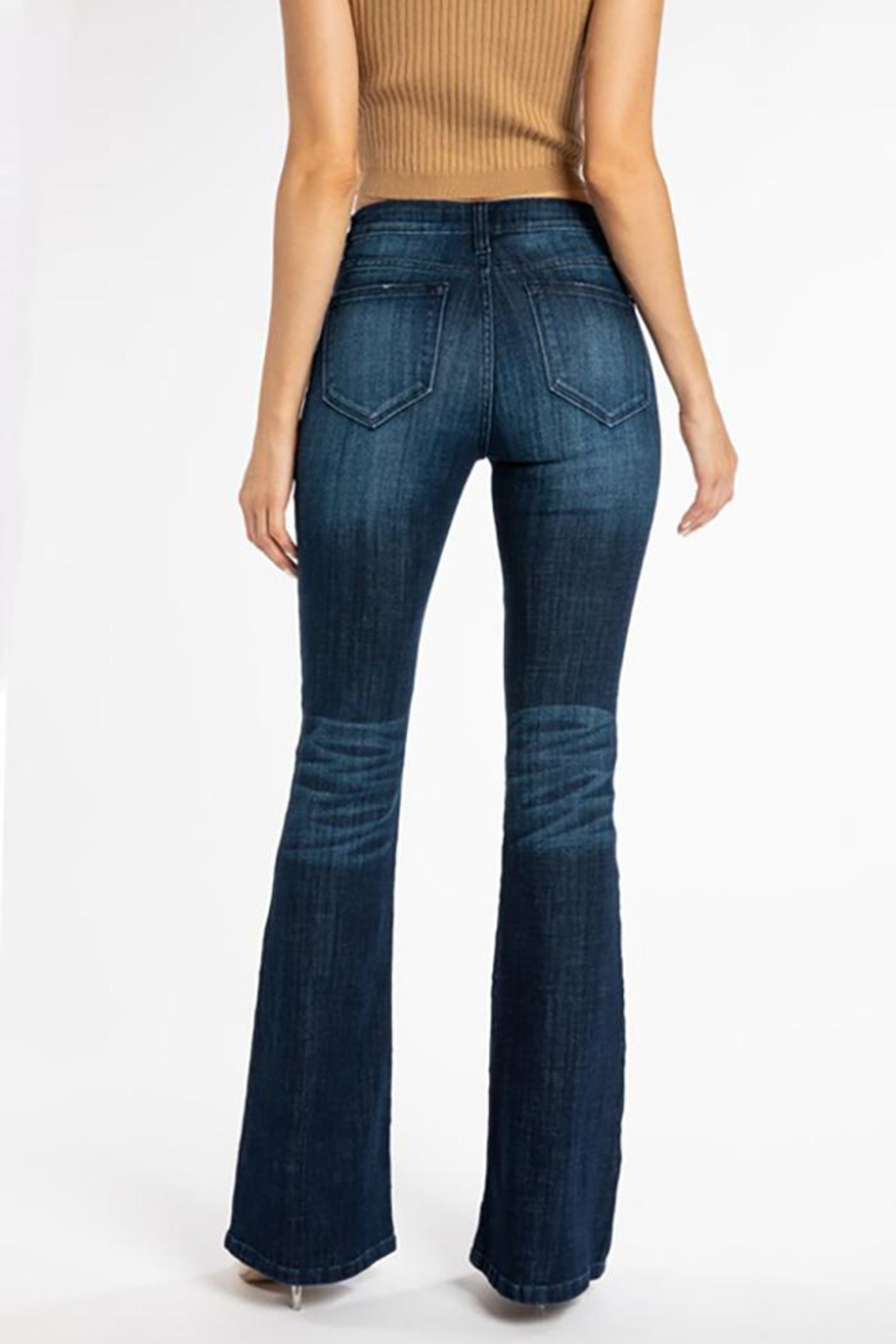 KanCan Mid Rise Flare Jeans - Front Full Image