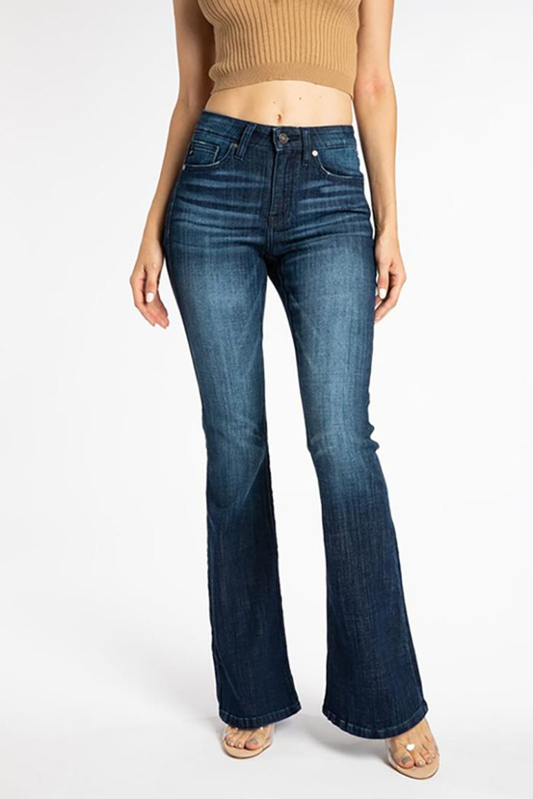 KanCan Mid Rise Flare Jeans - Main Image