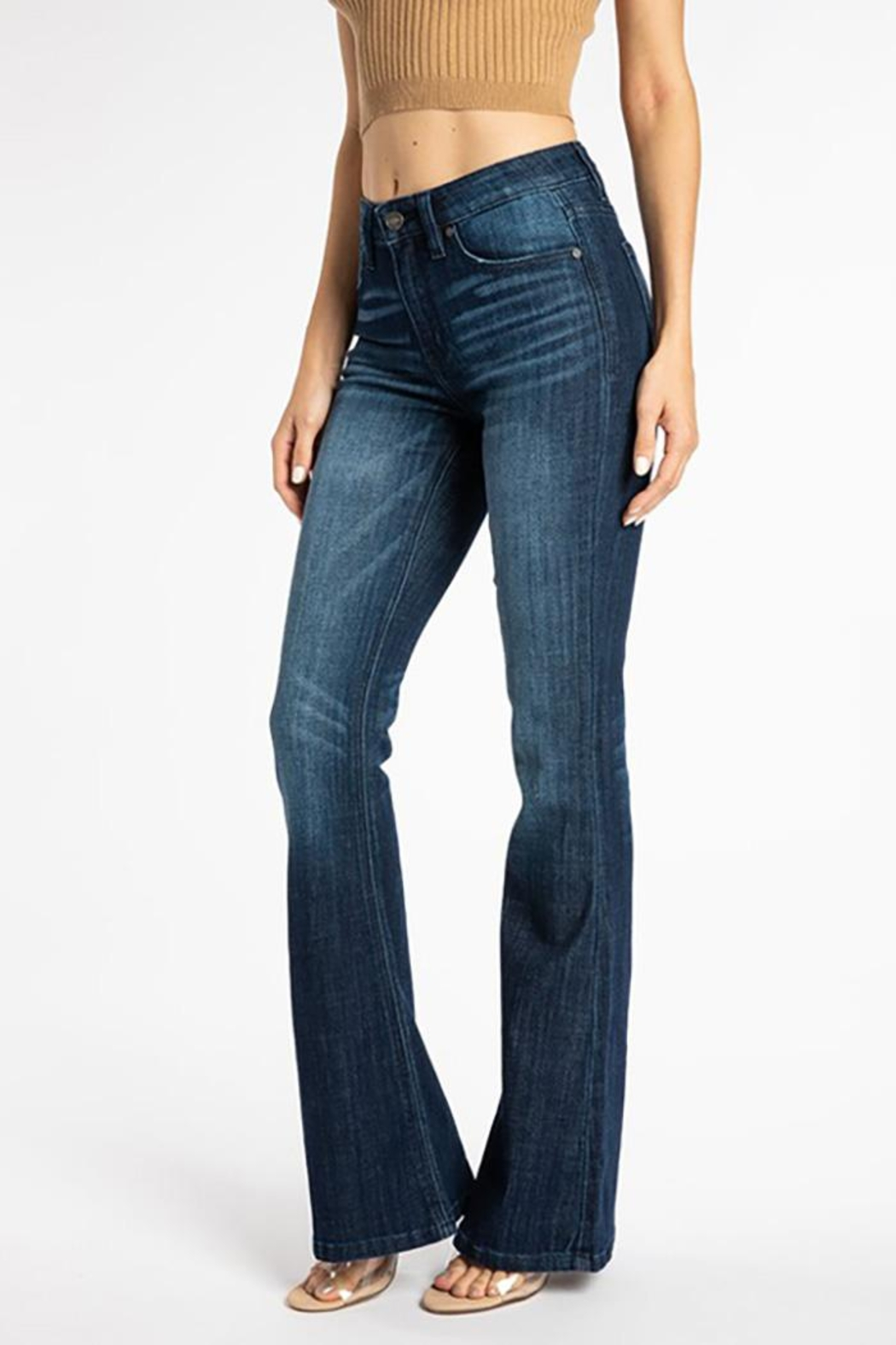 KanCan Mid Rise Flare Jeans - Side Cropped Image