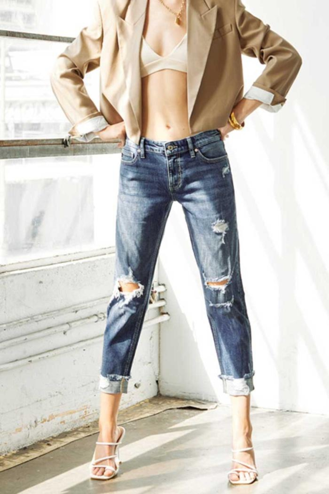 KanCan Mid Rise Jeans - Front Full Image