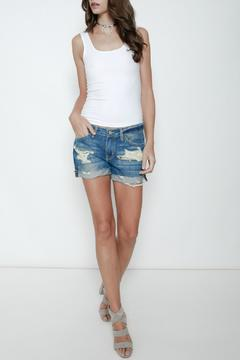 KanCan Relaxed Distressed Shorts - Product List Image