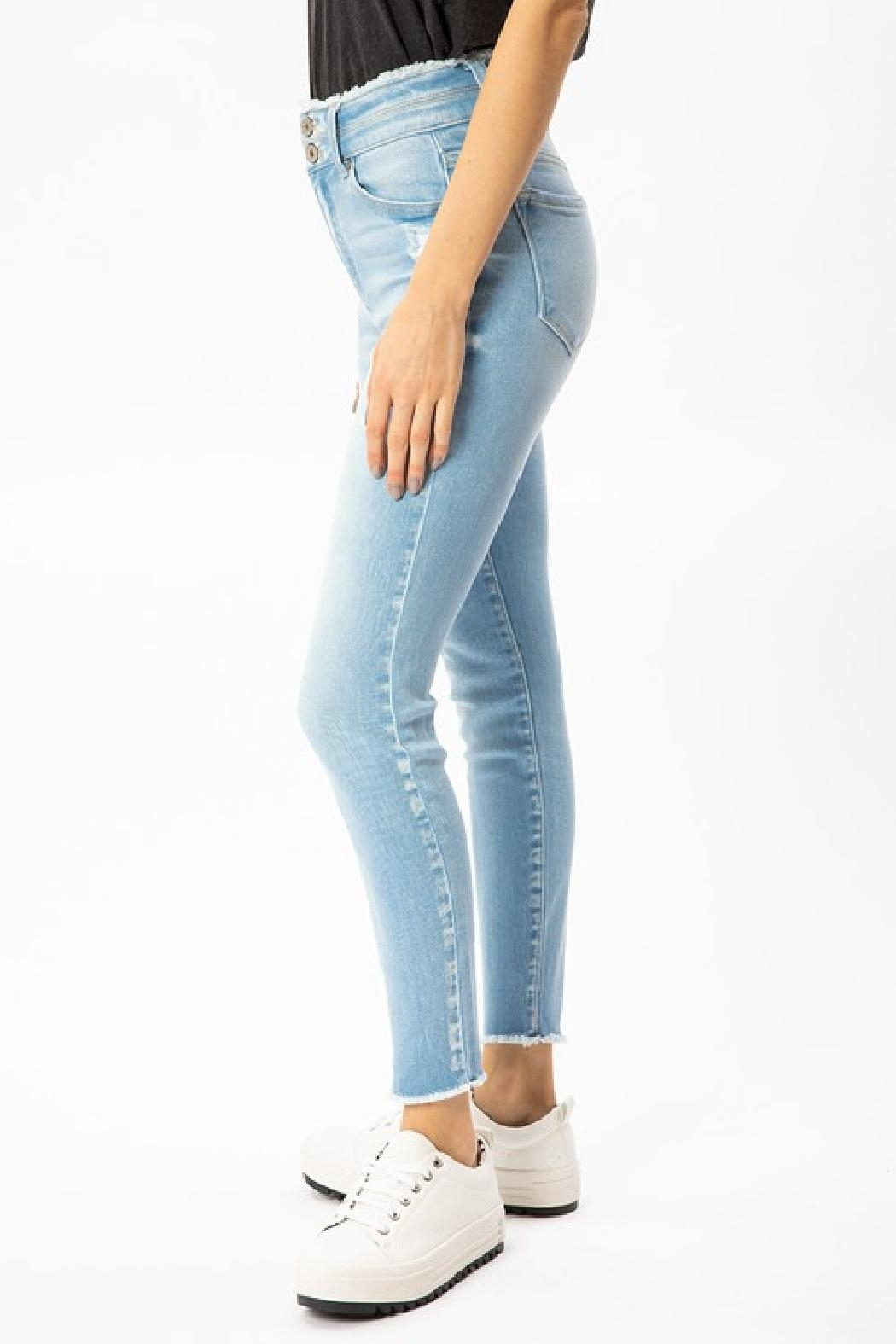 KanCan Two Button Denim - Side Cropped Image