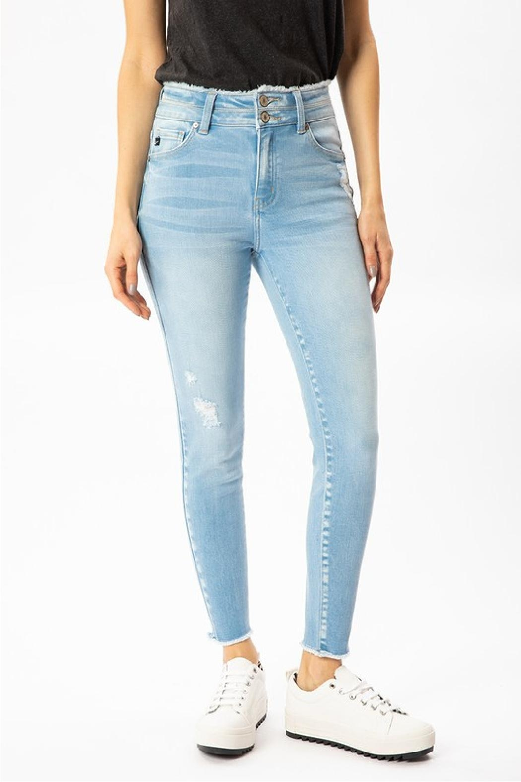 KanCan Two Button Denim - Front Full Image